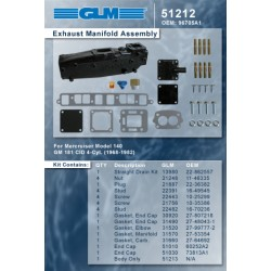 Ispušni kolektor Merc. 4 i 6 cilindra linijski JML 51212 (OEM 96705A1)